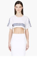 MAIYET White printed & Cropped T-shirt for women