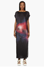 AVELON Black & Pink Silk Cosmic Glint Dress for women