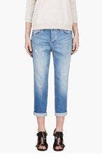 MARC BY MARC JACOBS Blue Cropped Jessie Boyfriend Jeans for women