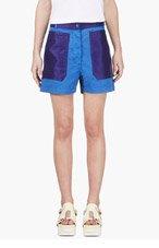 ACNE STUDIOS Blue Contrast Pocket Shorts for women