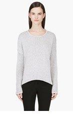 HELMUT LANG Grey Knit Crewneck Sweater for women