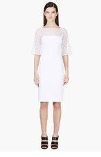 ZUHAIR MURAD White Mesh honeycomb dress for women
