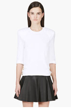 BALMAIN White Quilted & reinforced Biker sweatshirt for women