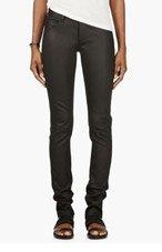 RICK OWENS Black Lambskin Trousers for women