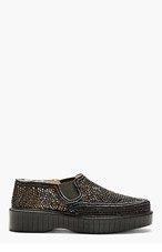 ROBERT CLERGERIE SSENSE EXCLUSIVE Black Woven Pelizo Shoes for women
