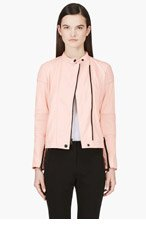 MARC BY MARC JACOBS Coral Pink Leather Karlie Bomber Jacket for women