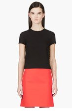 VERSUS Black Crepe Safety Pin Blouse for women