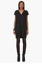 RICK OWENS Black Beaded Floating Tunic Dress for women