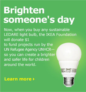Brighten someone's day when you buy any sustainable LEDARE light bulb
