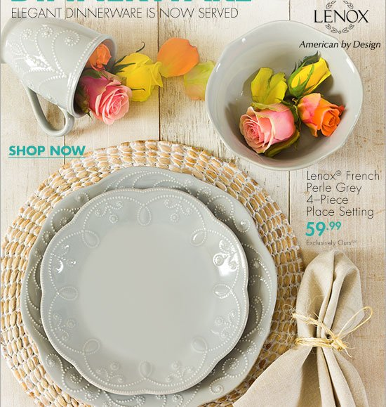 DRESS YOUR TABLE WITH LENOX® FRENCH PERLE DINNERWARE ELEGANT DINNERWARE IS NOW SERVED LENOX American & Bed Bath and Beyond: Elegant everyday dinnerware by Lenox® + your 20 ...