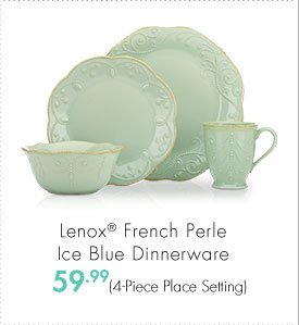 Lenox® French Perle Ice Blue Dinnerware 59.99 (4-Piece Place Setting)