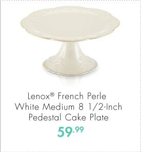 Lenox® French Perle White Medium 8 1/2-Inch Pedestal Cake Plate 59.99