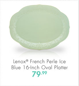Lenox® French Perle Ice Blue 16-Inch Oval Platter 79.99