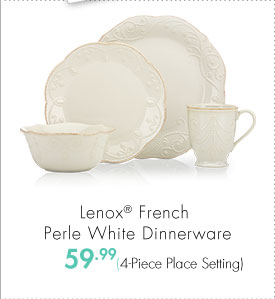 Lenox® French Perle White Dinnerware 59.99 (4-Piece Place Setting)
