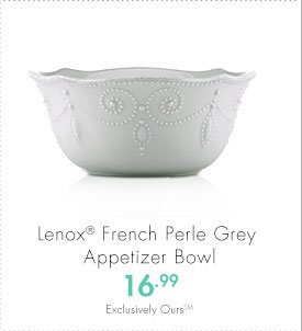 Lenox® French Perle Grey Appetizer Bowl 16.99 Exclusively Ours(SM)