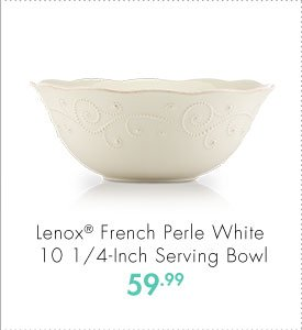 Lenox® French Perle White 10 1/4-Inch Serving Bowl 59.99