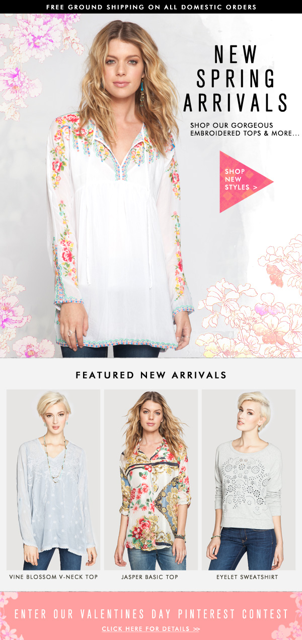New Spring Arrivals: Shop our Gorgeous Embroidered Tops and More