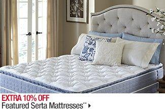 Extra 10% off Featured Serta Mattresses**