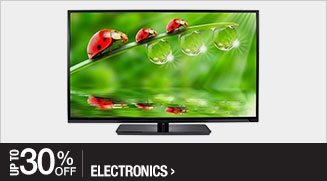 Up to 30% off Electronics