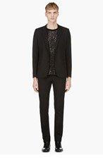 SAINT LAURENT Black Slim Fit Two Piece Suit for men