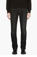 DIESEL BLACK GOLD Black Slim Woll-E Jeans for men