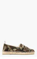 CASTAÑER Khaki Canvas Camo Pablo Slip-On Shoes for men