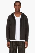 T BY ALEXANDER WANG Black Accent Seams Hooded Sweater for men