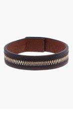 WANT LES ESSENTIELS DE LA VIE Black Leather Zip Bracelet for men