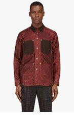JUNYA WATANABE Burgundy Seil Marschall edition Reversible Jacket for men