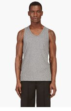 T BY ALEXANDER WANG Heather grey Classic pocket tank top for men