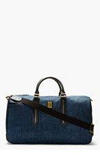 DIESEL Blue Denim Vanguarding Duffle Bag for men
