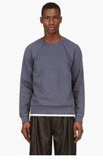 T BY ALEXANDER WANG Slate blue raglan sweatshirt for men