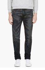 DIESEL Blue Distressed Shioner Jeans for men