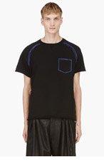 ACNE STUDIOS BLACK Contrast-trim t-shirt for men