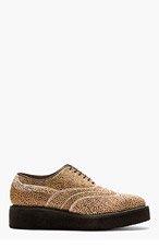 AUTHENTIC SHOE&Co. Brown calf-hair Jabatus Austerity Brogues for men