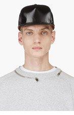 DIESEL Black Glossy Baseball Cap for men