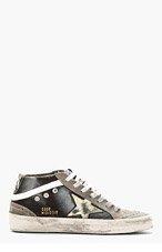 GOLDEN GOOSE Navy & Grey Distressed Sneakers for men