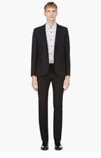 SAINT LAURENT Navy Wool Classic Suit for men