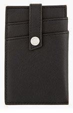 WANT LES ESSENTIELS DE LA VIE Black Leather KENNEDY MONEY CLIP Card Holder for men