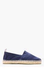 CASTAÑER Navy Canvas Pablo Slip-On Shoes for men