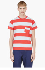 LEVIS VINTAGE CLOTHING Red & Blue 1960'S Striped T-Shirt for men