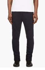 BALMAIN Navy Quilted Houndstooth Lounge Pants for men