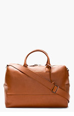 WANT LES ESSENTIELS DE LA VIE Cognac Leather Douglas Duffle Bag for men