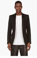 BALMAIN Black Tuxedo Blazer for men