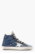 GOLDEN GOOSE Royal blue FRANCY High-top sneakers for men