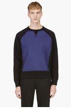 ACNE STUDIOS Black & Indigo Crewneck Sweatshirt for men