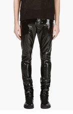 SAINT LAURENT Black Patent Slim Fit Pant for men