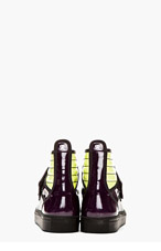 RAF SIMONS SSENSE Exclusive Purple & Green High-Top Sneakers for men