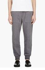 DIESEL BLACK GOLD Grey knit POCAIOCA Lounge pants for men
