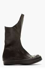 RICK OWENS HIGH TALL BLACK SNEAKERS for men
